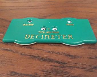 Vintage 1971 Decimeter decimalisation converter