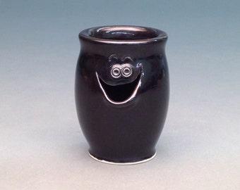 Black, Egg Separator, Ceramic Egg Separator, Pottery Egg Separator, Egg Separator, Handmade Egg Separator