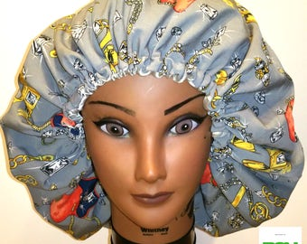 Diamonds and Gold Satin-Lined Bonnet