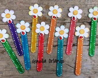 10 bookmarks set assorted colors