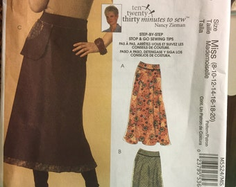 McCalls Skirt Pattern, Sizes 8 through 20, Never Used, M5524