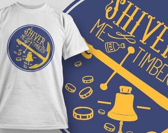 Pirate T-shirt - Shiver Me Timbers!  [J5F]