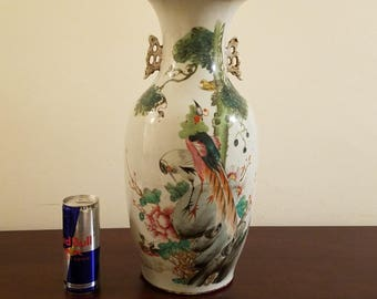 "16.75"" Antique Chinese Qing dynasty 19th century vase"