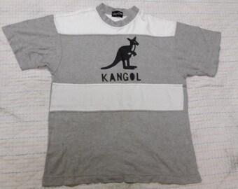 vintage KANGOL T SHIRT big logo spell out size m-L