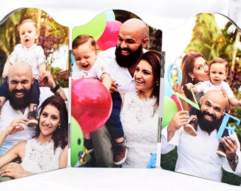 Connected Custom Photo Panels. Perfect Photo Gift for Parents, Grandparents, Family 'n Friends to Show New Baby,  New Home, New Husband/Wife
