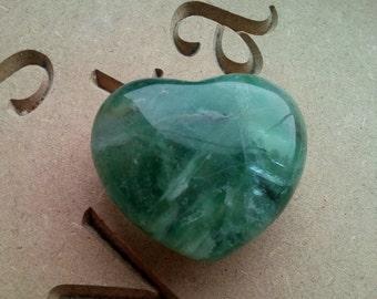 Fluorite Carved Heart Reiki Healing Meditation
