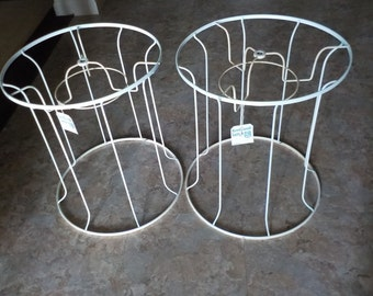 vintage rembrandt lamp shade frames metal antique priced per each 165 inches tall unique shape shabby chic white