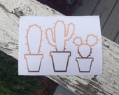 Cactus Plants Vinyl Decal - Cactus Decal - Vinyl Decal