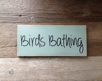 Birds Bathing garden sign