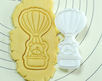 Bear on Hot Air Balloon Cookie Cutter and Stamp