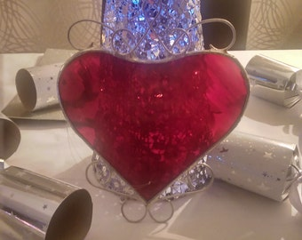 Ornamental Stained Glass Heart