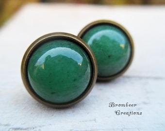 Earrings Aventurine quartz, earrings Aventurine quartz, earrings green stone, green stone earring, Easter gift earrings real stone