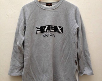 Vintage Evex by Krizia Embroidered Logo Pullover Sweatshirt - Size 46 /M