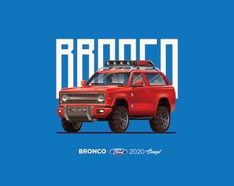 Bronco 2020 Car Poster