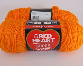 pumpkin -  Red Heart Super Saver yarn worsted weight  2023