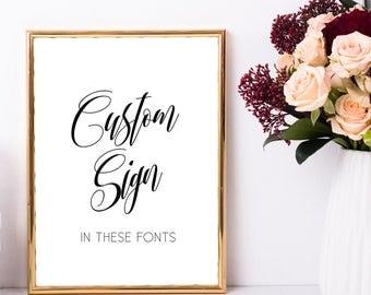 Custom sign for wedding, Custom wedding signs, Personalized signs, Personalized wedding signs, Navy blue wedding decorations, Printable sign