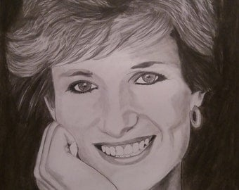 Princess Diana pencil sketch