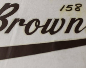 Vintage Cleveland Browns Iron On Transfer in Brown Lettering