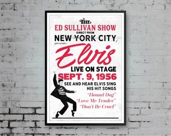 Elvis Presley, Elvis Presley Print, Pop Art Print, Elvis Presley Art, Elvis Concert Poster, Elvis Presley Poster