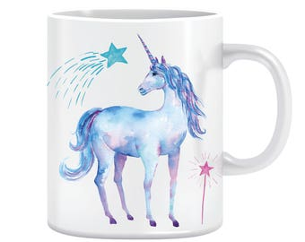 Starry unicorn mug