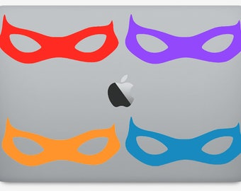 TMNT Masks Vinyl Decal Sticker