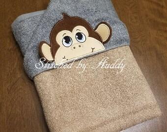 Hooded Towel - 3D Monkey