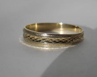 1960s Men's 10 K Solid Gold Wedding Band