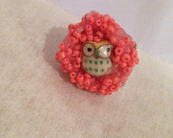 Owl ring/free shipping