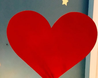 """Large Valentines Heart Tree Topper 11""""x10"""" As is or with laser etching or vinyl lettering personalization."""