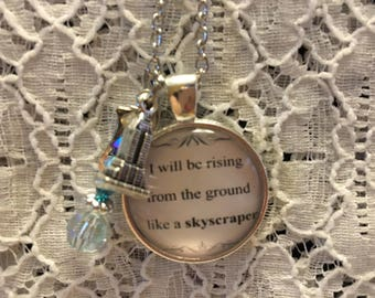 Demi Lovato Skyscraper Charm Necklace/Demi Lovato Necklace/Demi Lovato Jewelry/Demi Lovato Pendant/Skyscraper Necklace