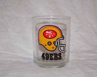 Vintage San francisco 49ers NFL Drinking glass 4 x 3 collectors