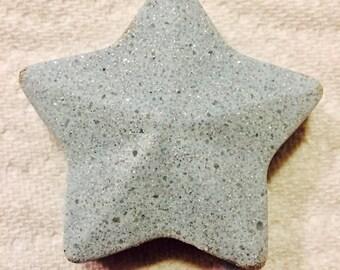 White Tears, Blue Star Shaped Glitter Bath Bomb