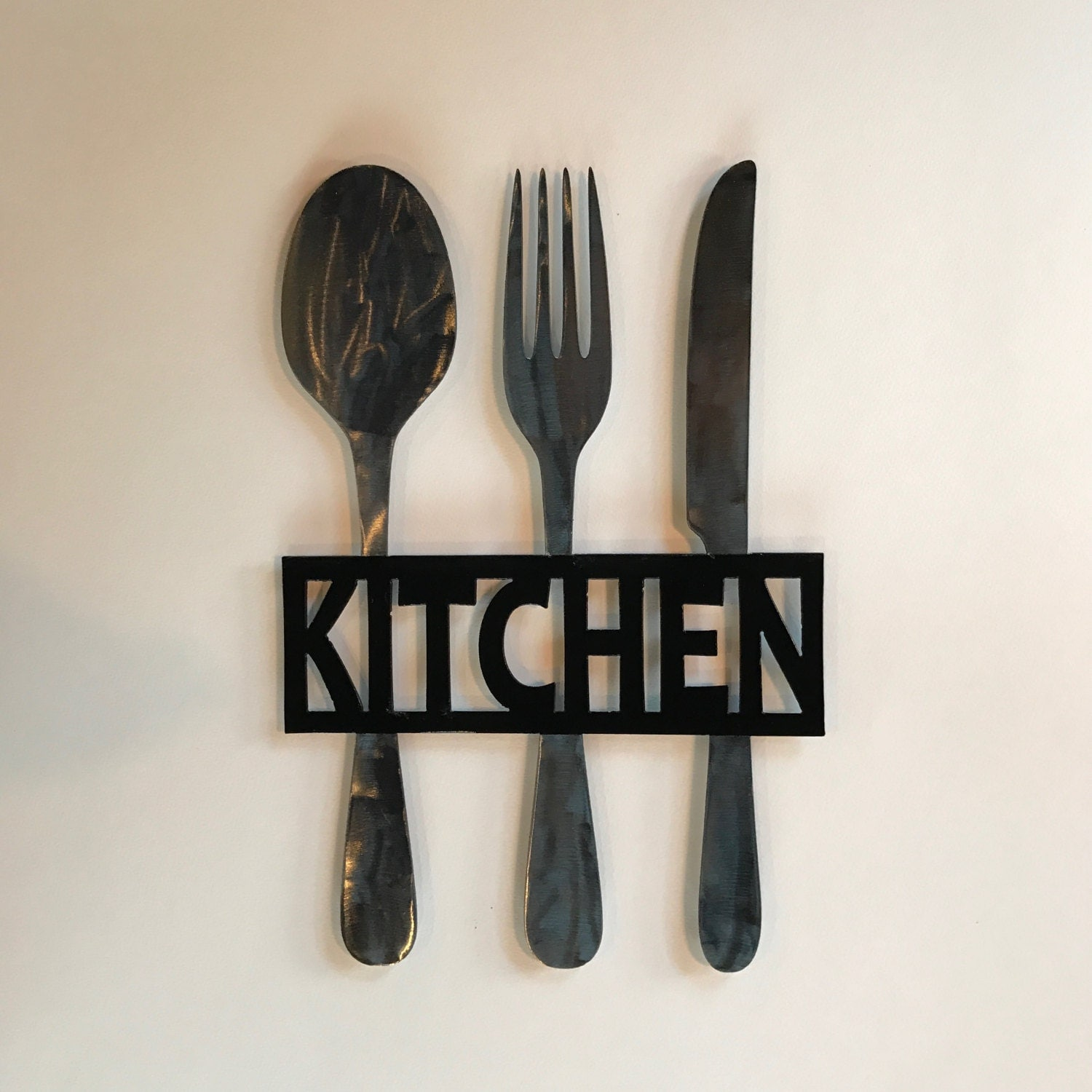 Kitchen Metal Sign, Knife Fork and Spoon Wall Decor, Metal Kitchen Decor,  Fork and Spoon, Metal Kitchen Sign, Metal Fork Decor