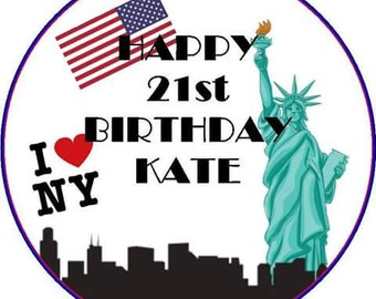 New York style edible cake topper 7.5 inch