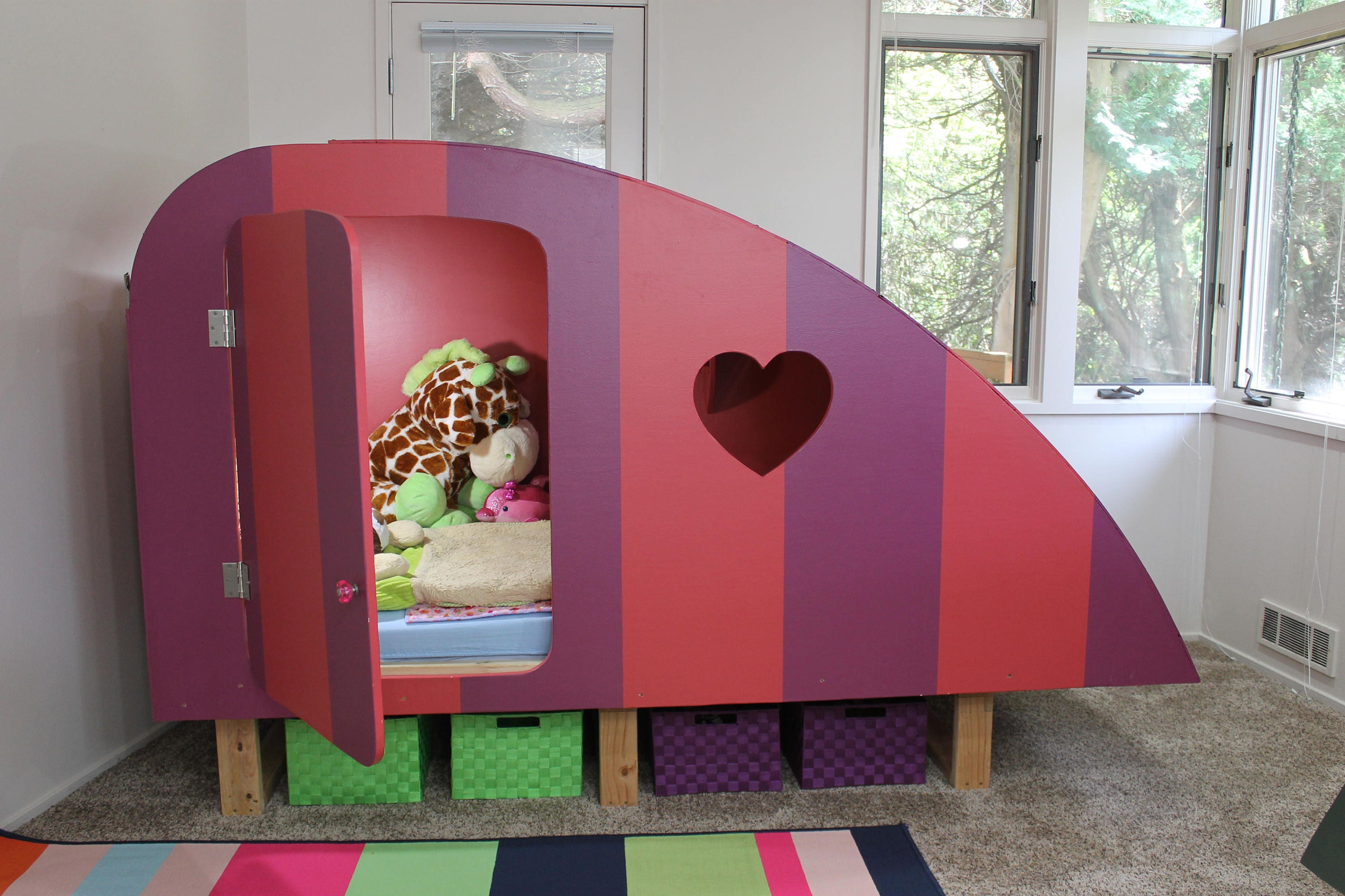 Kids Playhouse Kids Bed Playhouse Bed Twin Bed Plans Girl Bed Boy Bed Childrens Bed