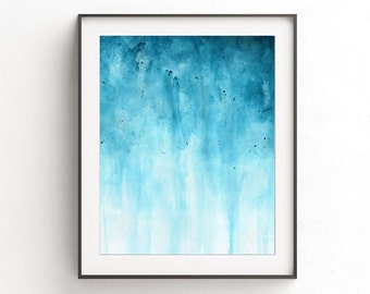 Printable wall decor instant download blue white art abstract painting art modern home decor interior design contemporary artwork L. Beiboer