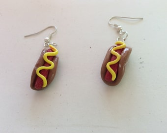 Hot dog earrings with FREE shipping!