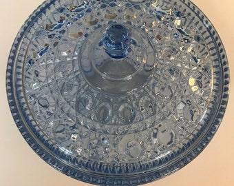 Vintage Aqua Blue Candy Dish