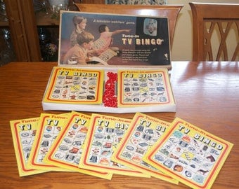 Rare Vintage 1960's TV Bingo Family Board Game by VIC-TOY