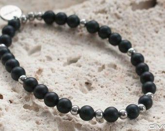 Black onyx bracelet men
