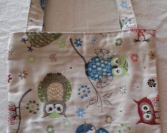 Bag with zipper fantasy Owls