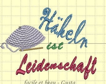 """Embroidery file """"Crochet is passion"""""""