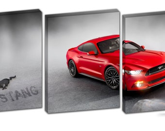 3 Piece Ford Mustang Canvas Print
