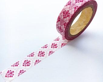 Red Damask Royal Washi Tape