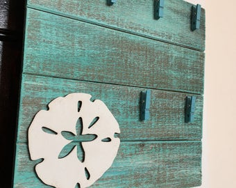 sand dollar blue pallet beach house wall sand dollar frame pallet shells vacation home beach house decor shore house pallet frame ocean blue
