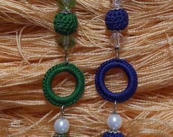 Alternating beaded crochet headbands crochet bracelet and acrylic beads