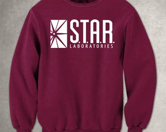 Star Labs Maroon Unisex Sweatshirt- STAR Laboratories -  Flash The TV Series -  S.T.A.R. Labs - Free UK Delivery!