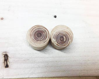 22mm - Handmade spruce plugs