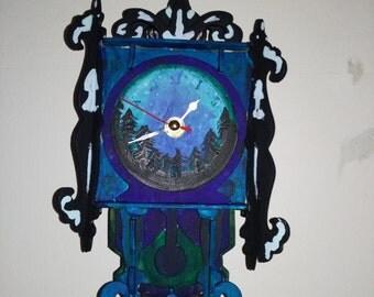 Handmade Walk in a mystical Irish forest pendulum wall clock