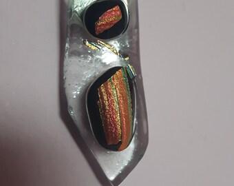 Small dichroic glass pendant.
